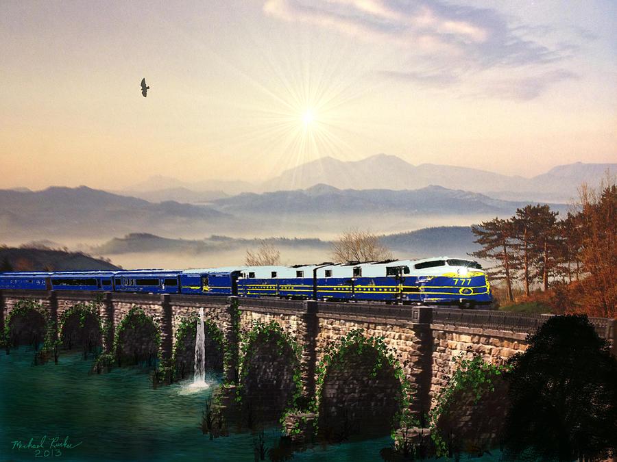 Orient Express Digital Art - Orient Express by Michael Rucker