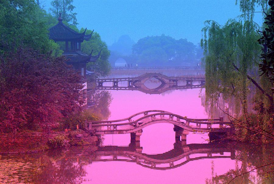 Oriental Photograph - Oriental Bridge by Larry Moloney