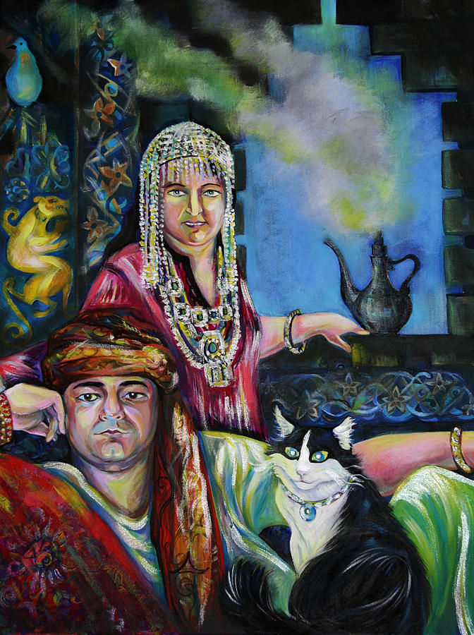 Portrait Painting - Oriental Fairy Tale. First Part by Anna  Duyunova
