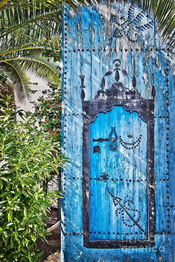 Door Photograph - Oriental Garden by Delphimages Photo Creations