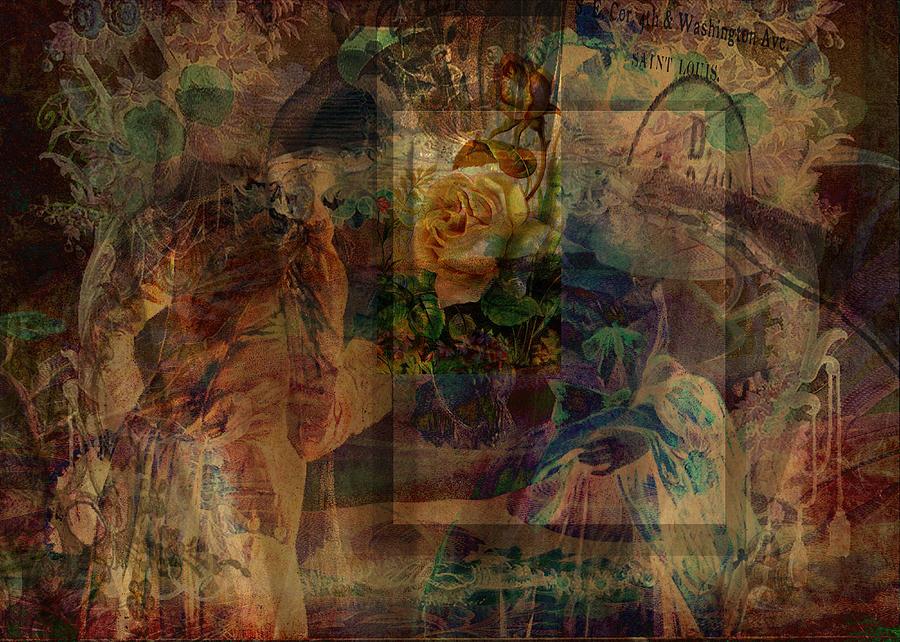 Abstract Digital Art - Oriental Glimpse by Sarah Vernon