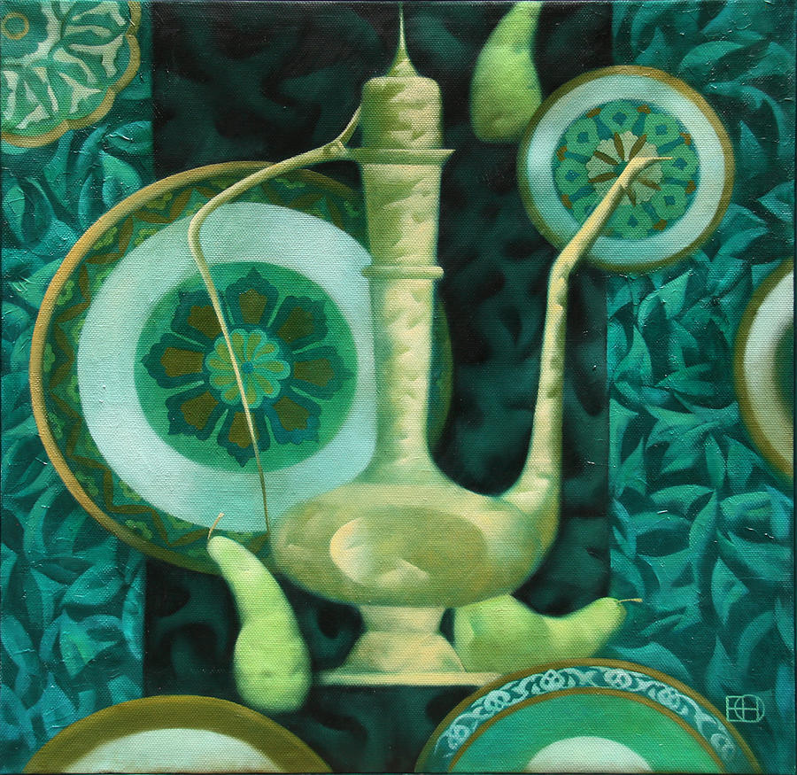 Still Life Painting - Oriental Motif by Nadia Egorova