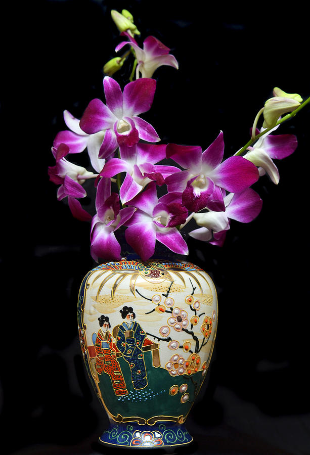 Orchids Photograph - Oriental Orchids. by Terence Davis