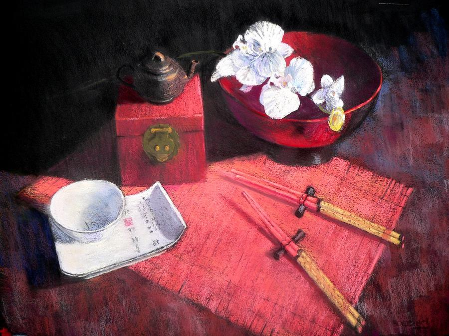 Still Life Painting - Oriental Still Life by Jackie Simmonds