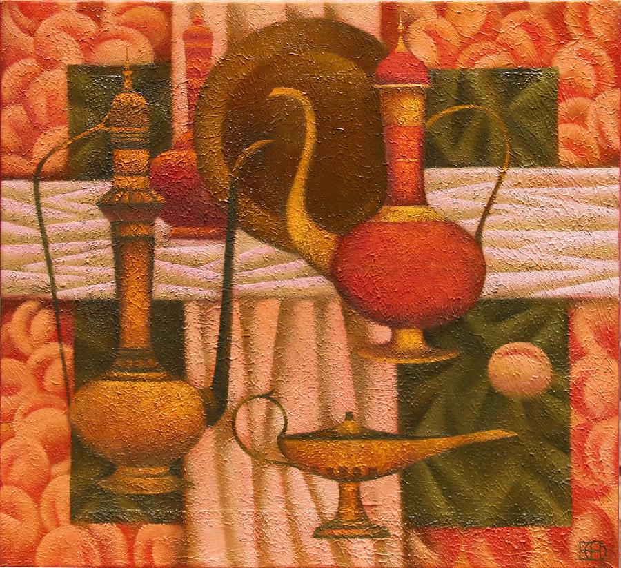 Still Life Painting - Oriental Still life by Nadia Egorova