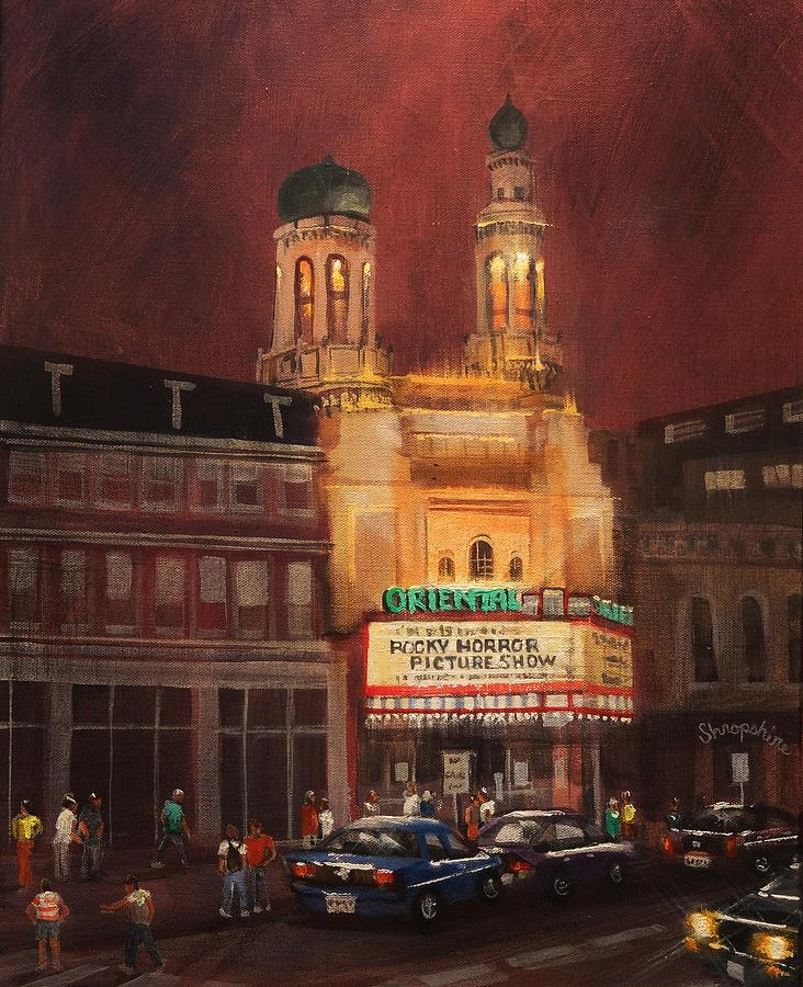 Oriental Theater Milwaukee Painting by Tom Shropshire