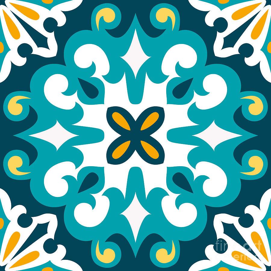 Ceramic Digital Art - Oriental Traditional by Ksu Ganz