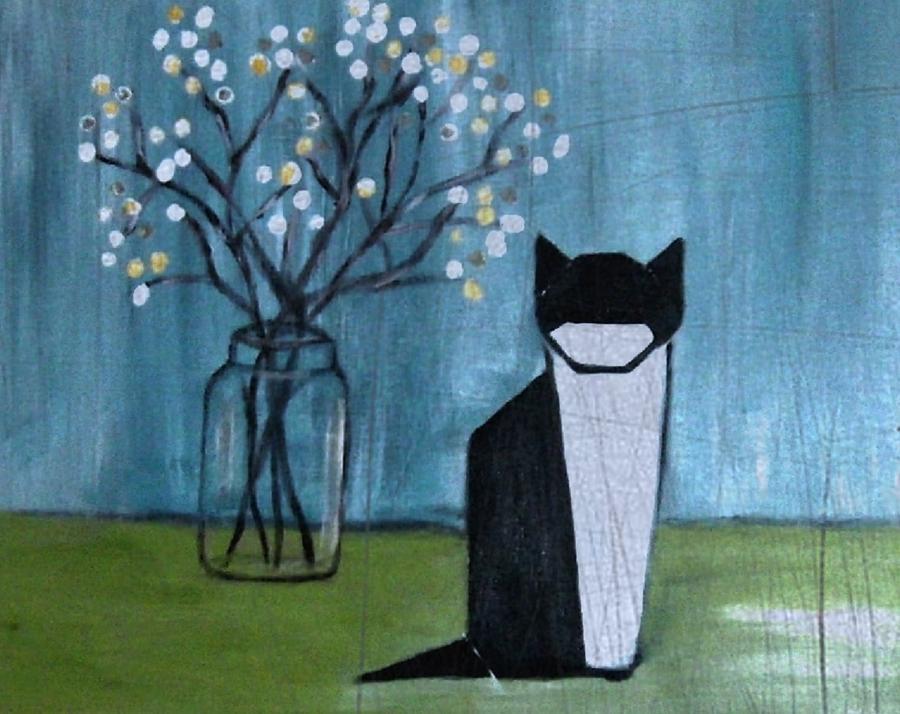 Still Life Mixed Media - Origami Cat by Joseph Ferguson