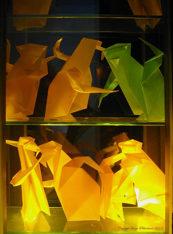 Origami Photograph - Origami by Leena Pekkalainen