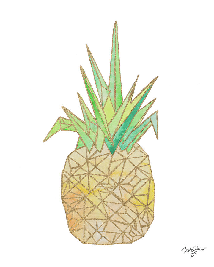 Origami Pineapple Digital Art By Nola James