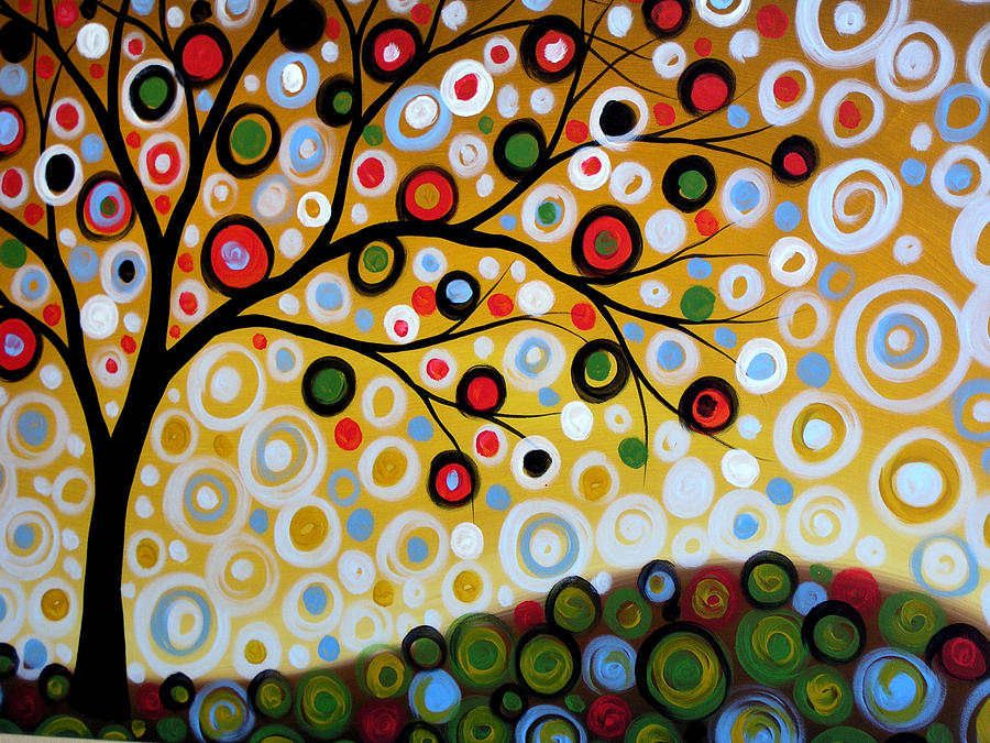 Original Abstract Landscape Tree Art Painting ... One Summer's Day ...