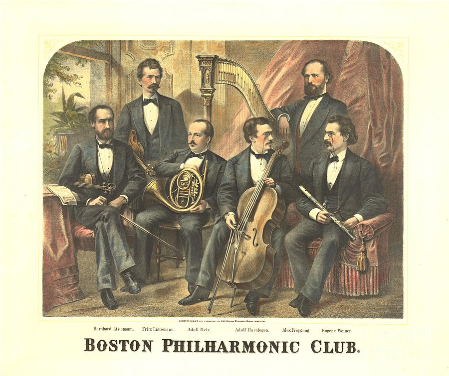Massachusetts Photograph - Original Boston Philharmonic Club 1875 by Padre Art