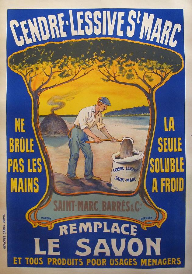 Original french poster cendre lessive st marc cleaner - Lessive saint marc mur ...