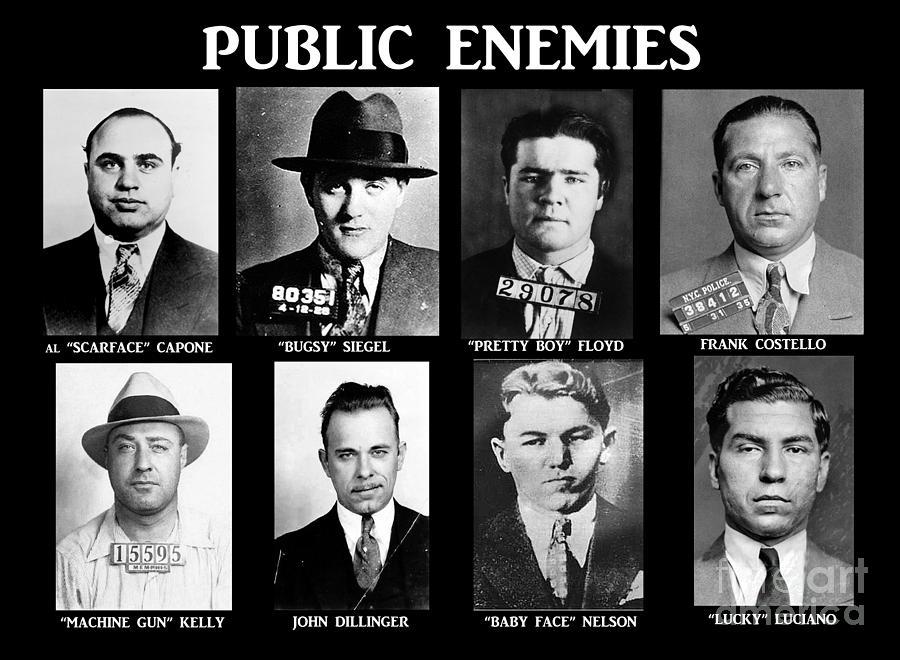 Og Photograph - Original Gangsters - Public Enemies by Paul Ward