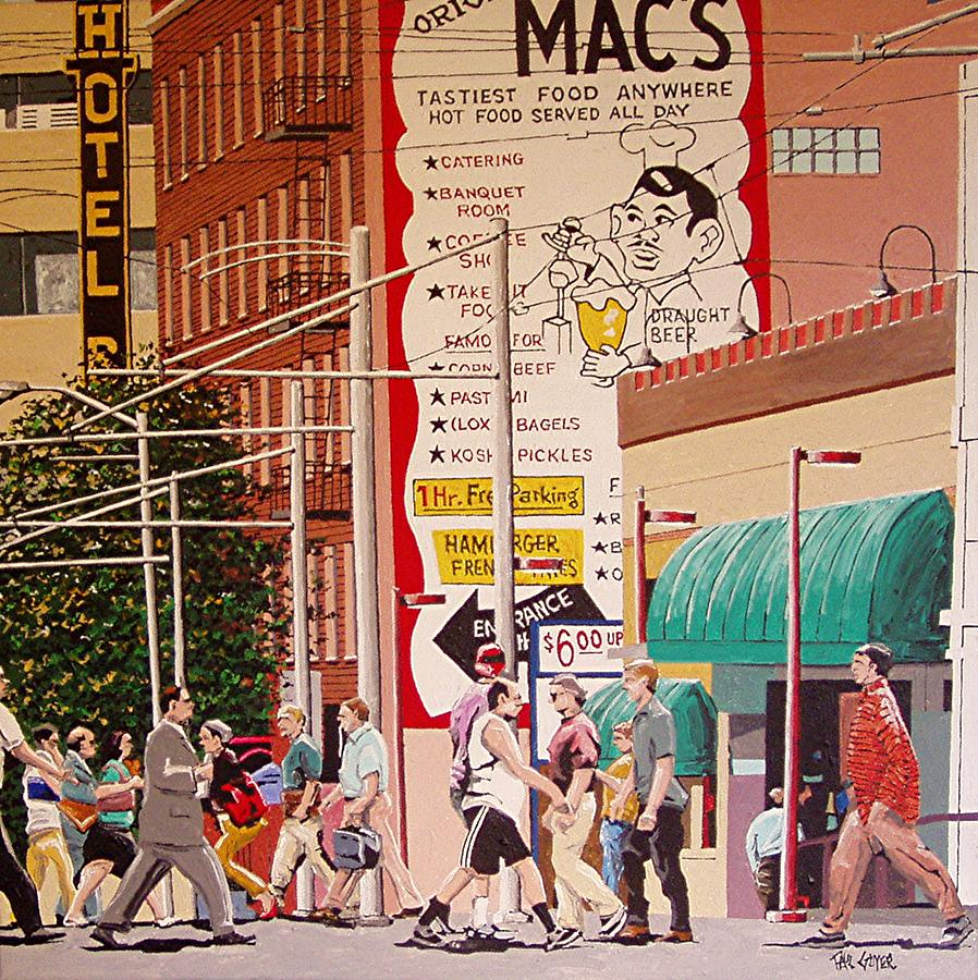 Sacramento Painting - Original Macs Number 2 by Paul Guyer