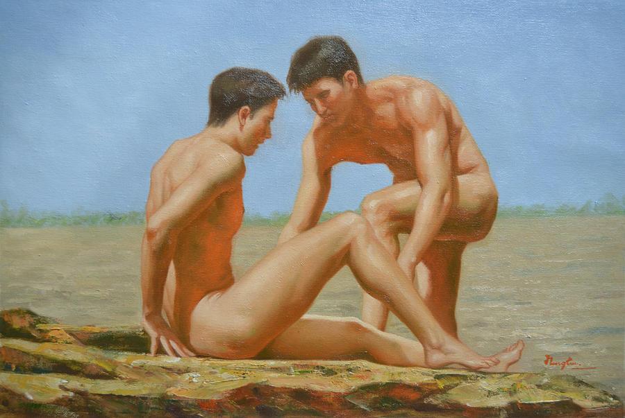 Nude bisexual male artwork