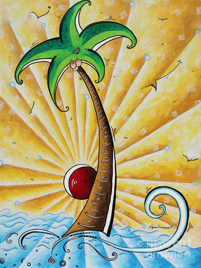 Original Pop Art Tropical Palm Tree Painting In The Tropics By Megan ...