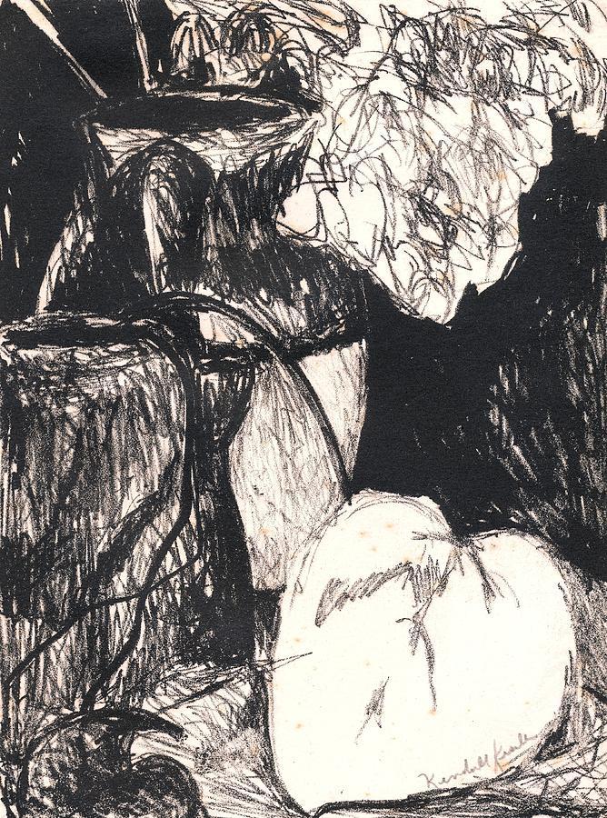 Original Studio Still Life Drawing