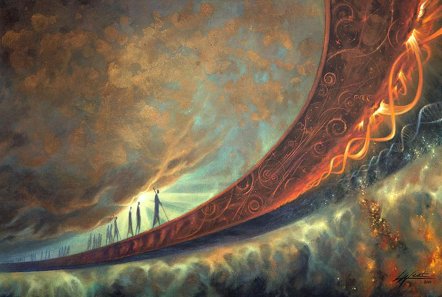 Humanity Painting - Origins by Lucy West