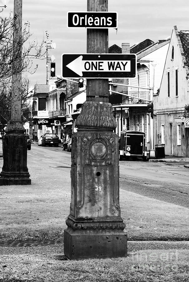 Orleans One Way Photograph - Orleans One Way by John Rizzuto