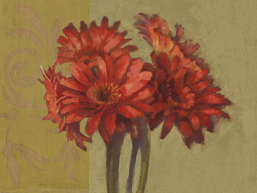 Floral Painting - Ornamental Gerbers by Cathy Locke
