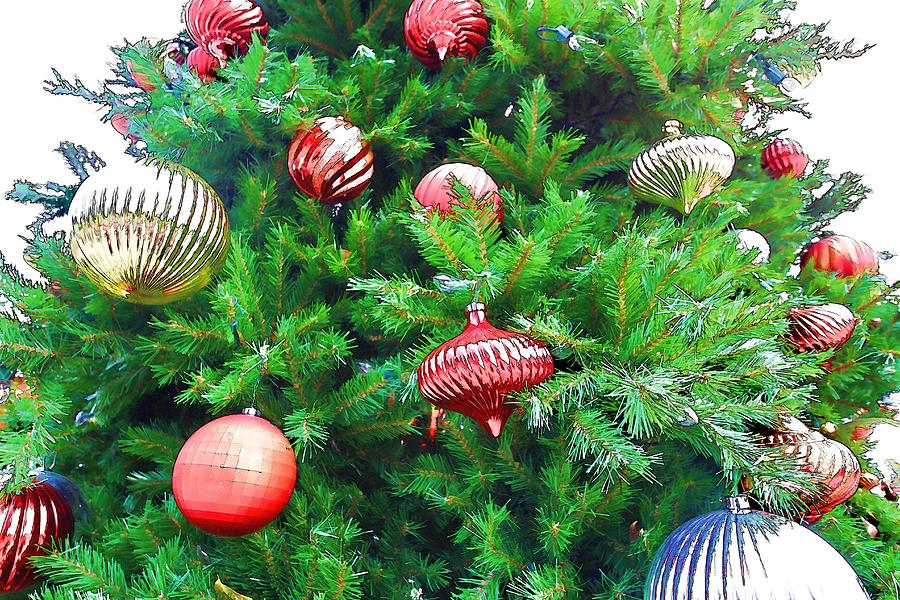Christmas Digital Art - Ornaments So Bright by Audreen Gieger