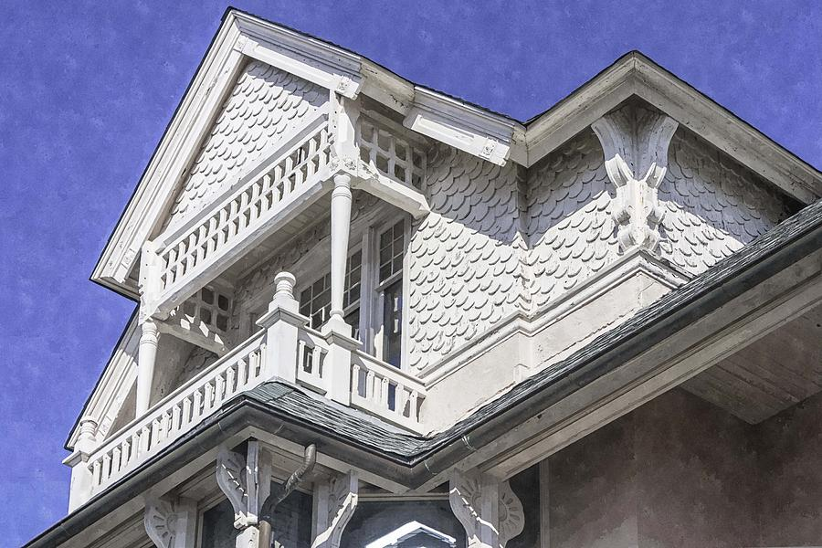 Historic Preservation Photograph - Ornate Balcony With View by Lynn Palmer