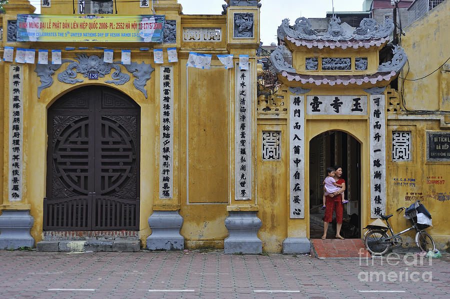 Vietnamese Photograph - Ornate Buildings In The City Centre Of Hanoi by Sami Sarkis