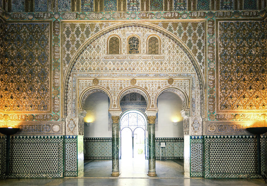 Ornate Door Inside The Alcazar Palace Photograph by Matteo Colombo