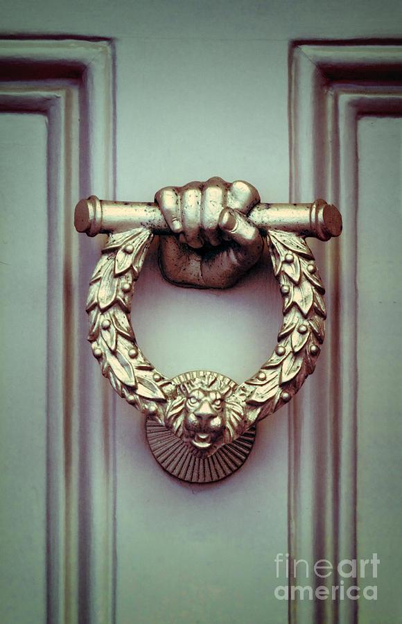 Door Photograph   Ornate Door Knocker By Jill Battaglia