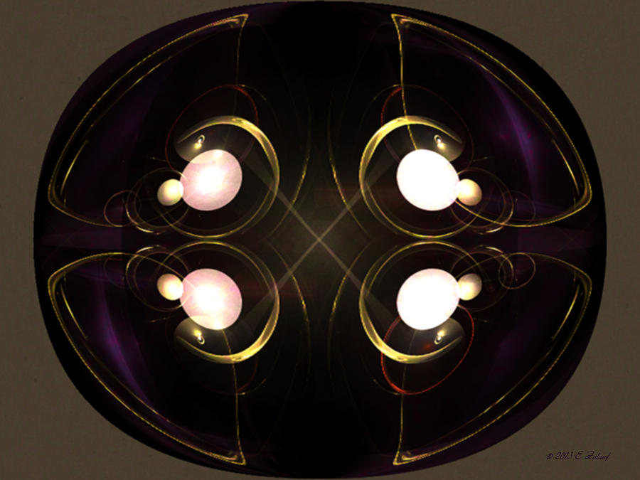 Elegant Digital Art - Ornate Elegance by Elizabeth S Zulauf