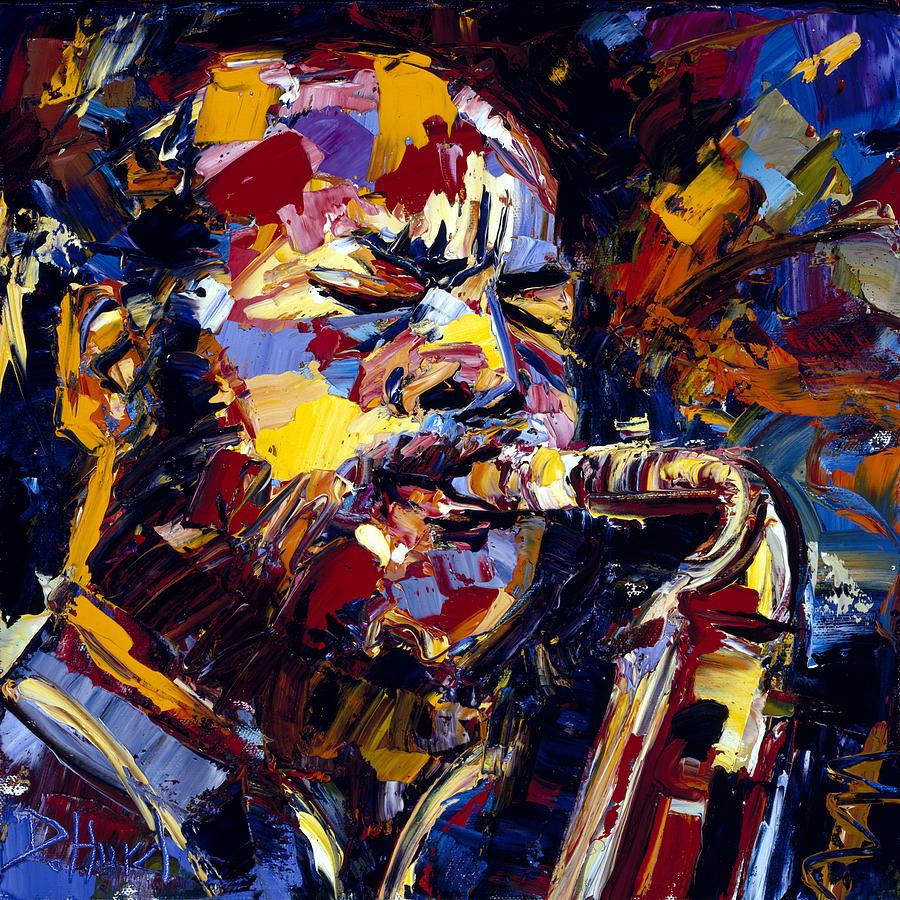 Ornette Coleman Jazz Faces Series Painting By Debra Hurd