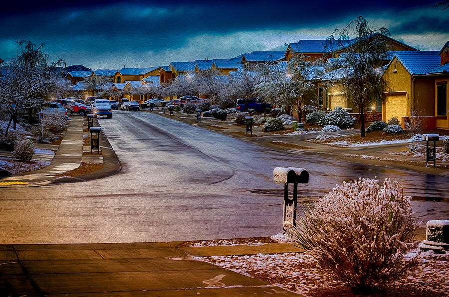 Acrylic Prints Photograph - Oro Valley Winter No.54 by Mark Myhaver