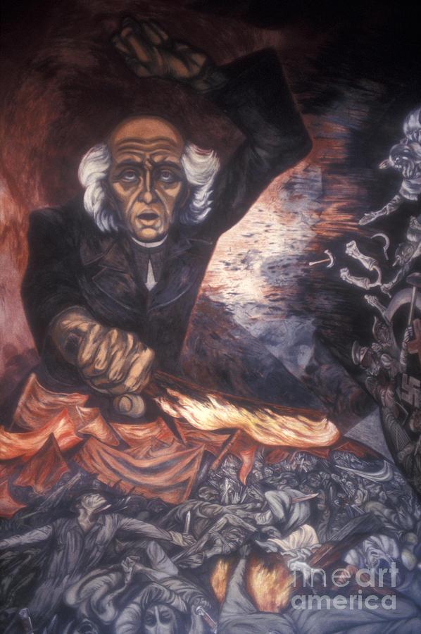 Orozco Mural Guadalajara Photograph