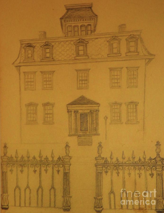 Architecture Drawing - Orphan Asylum circa Civil War by Nancy Caccioppo
