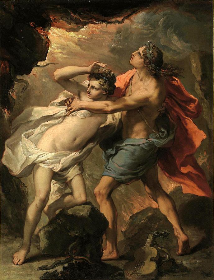 Orpheus And Eurydice Painting - Orpheus and Eurydice by Gaetano Gandolfi