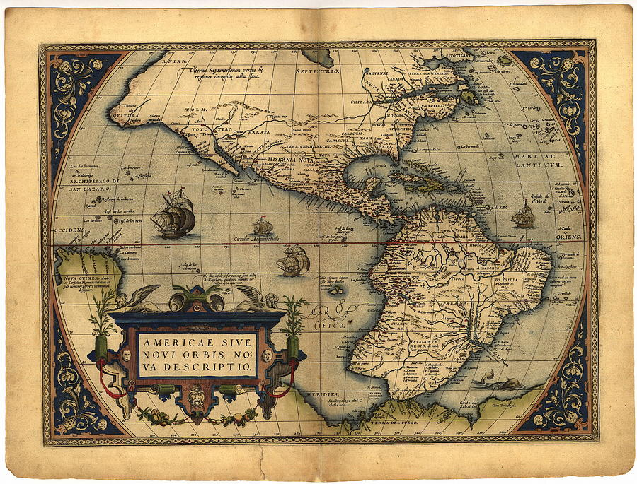 Ortelius's Map Of The New World by Library Of Congress, Geography And Map  Division/science Photo Library