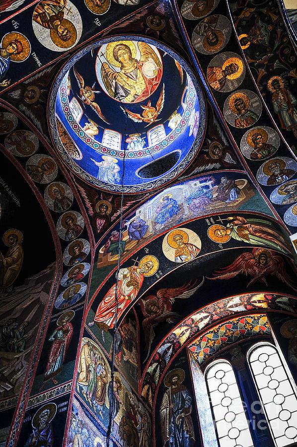 Mosaic Photograph - Orthodox Church Interior by Elena Elisseeva