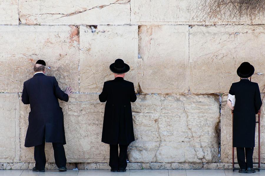 Orthodox Jewish Men Praying At The Photograph by Nils Juenemann / Eyeem
