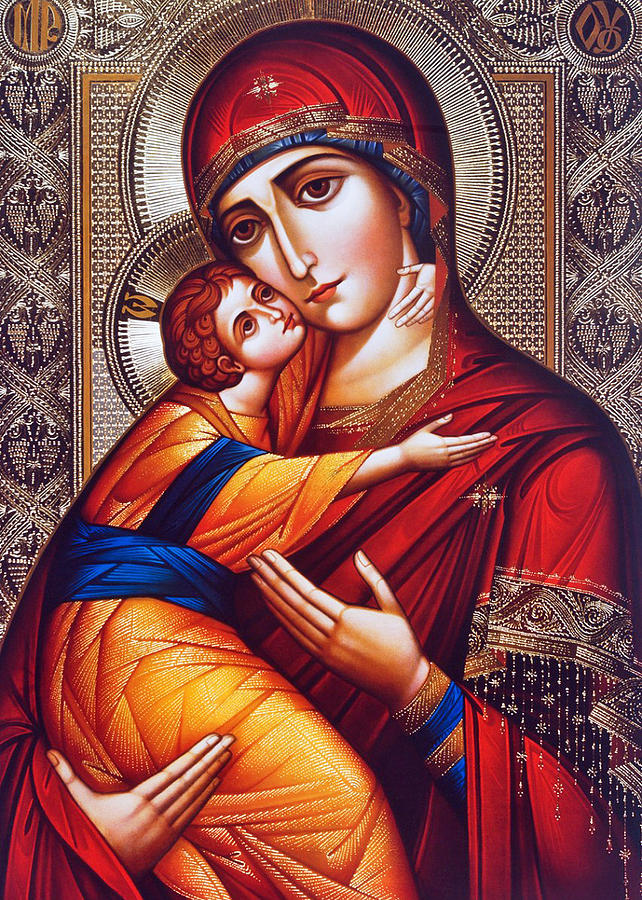 Orthodox Photograph - Orthodox Mary And Jesus by Munir Alawi