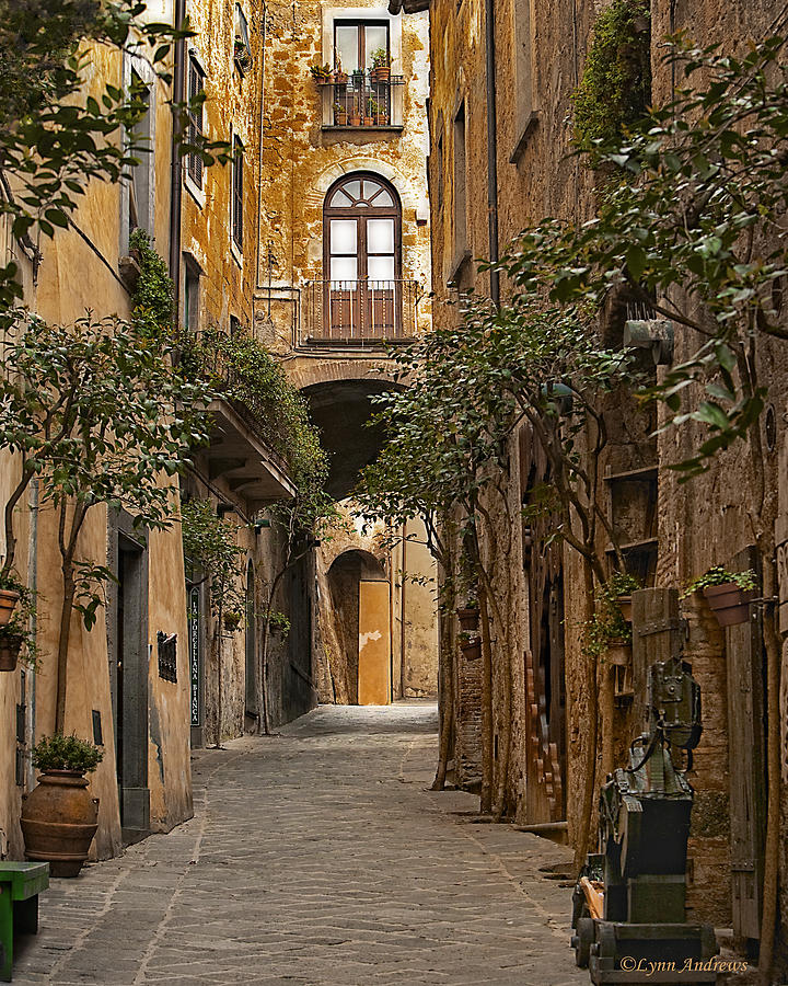 Orvieto Photograph - Orvieto Side Street by Lynn Andrews
