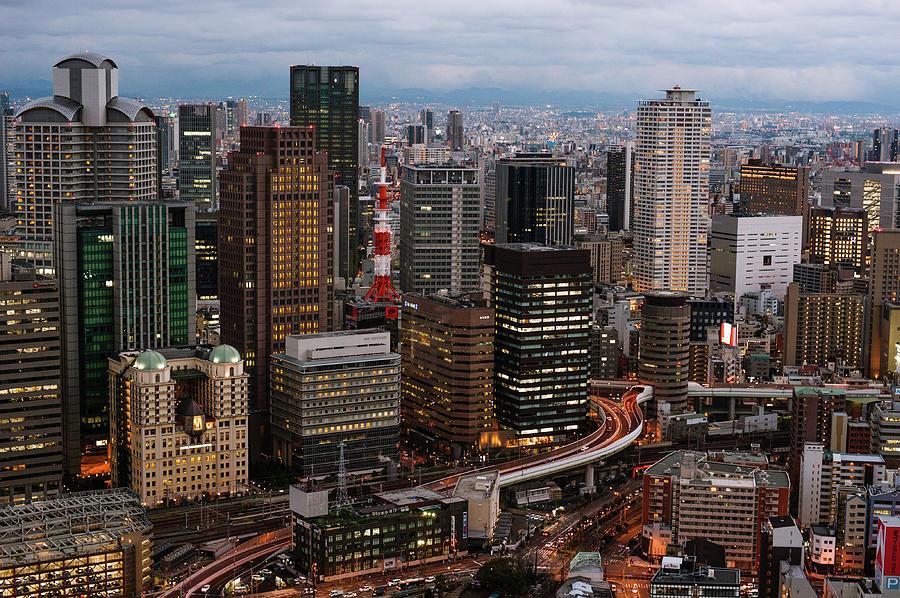 Osaka City Photograph by Ebiq
