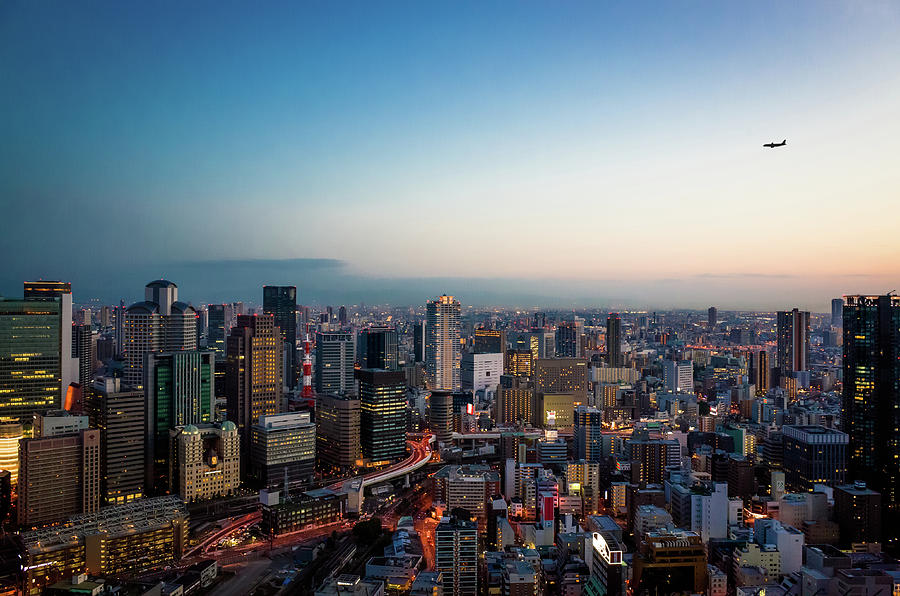 Osaka City From 170 Meters High Photograph by Marser