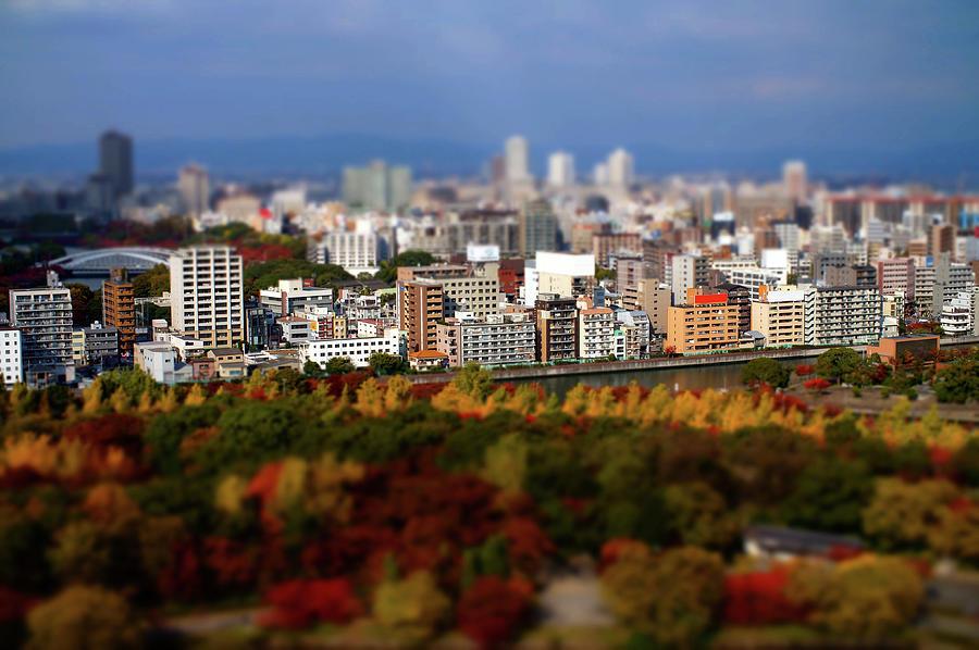 Osaka City Miniature In Autumn Photograph by Totororo