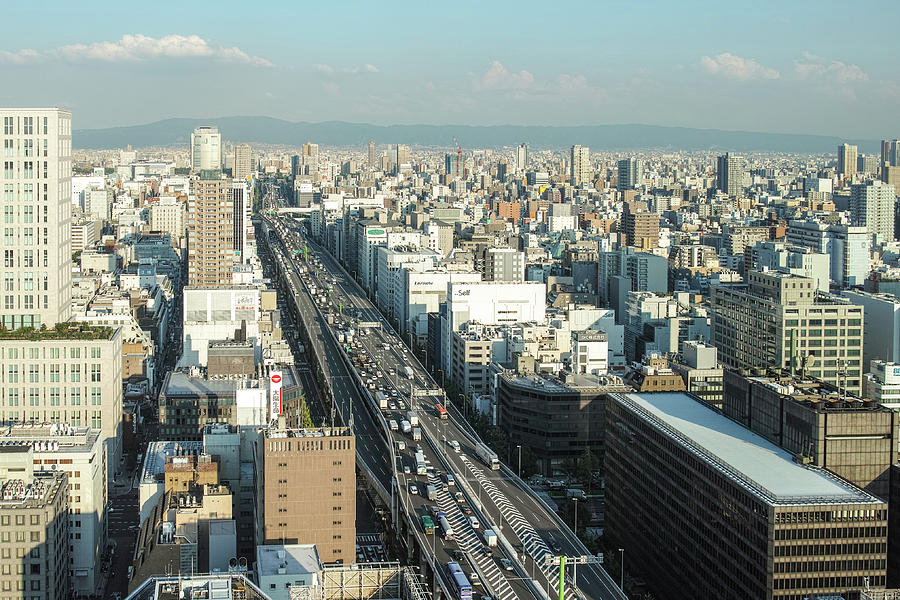 Osaka Cityscape Photograph by I Love Photo And Apple.