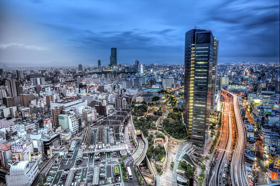 Osaka From Swissotel Photograph by Paul Cowell Photography