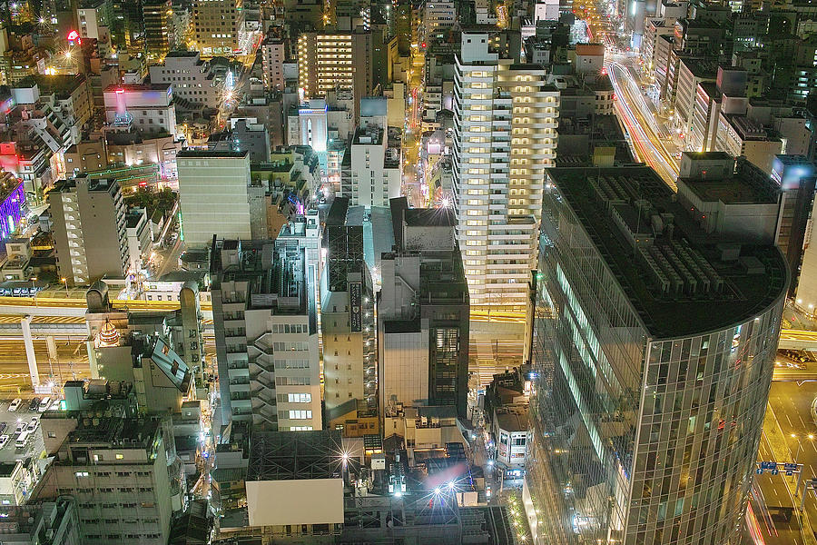 Osaka Look Down Photograph by Spiraldelight