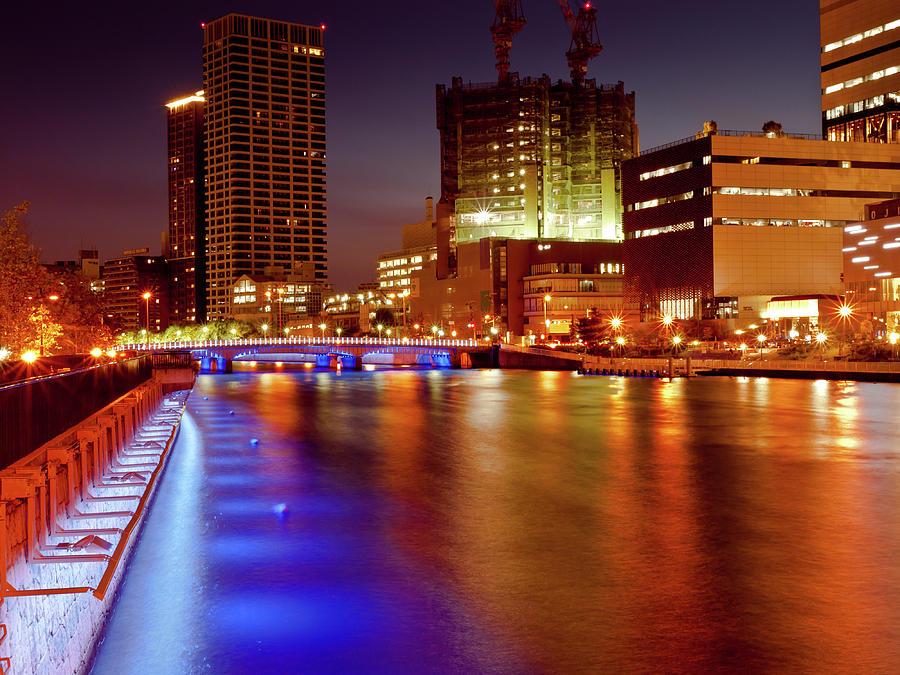 Osaka Night View Photograph by Taichans Photo