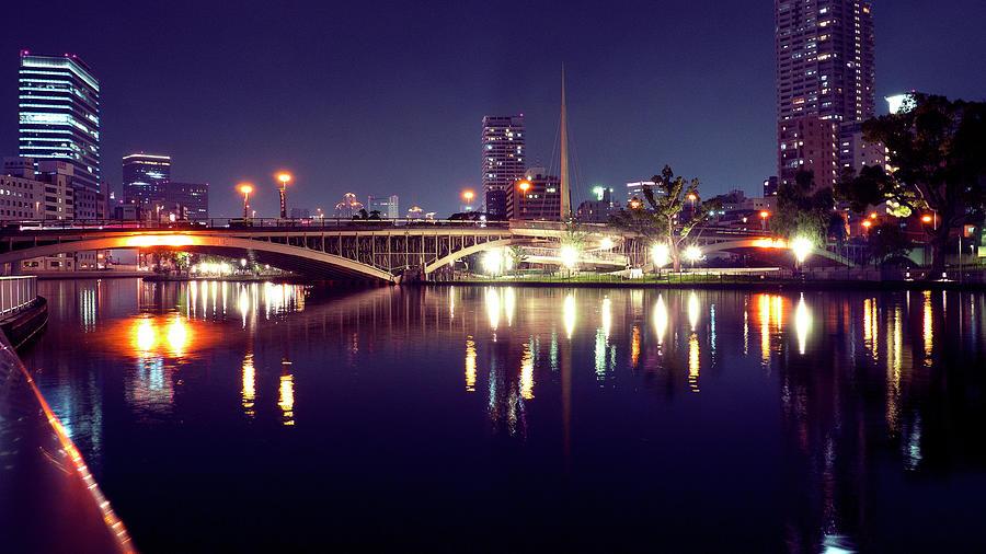 Osaka Nightview Photograph by Taichans Photo