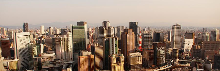 Osaka Skyline Photograph by Piero Damiani